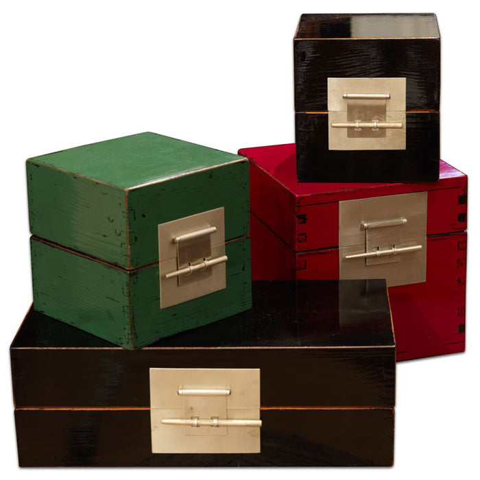 Large Cube Lacquer Box