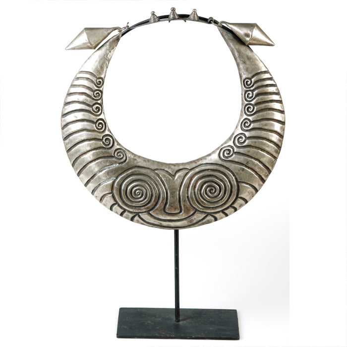 Miao Silver Necklace on Stand
