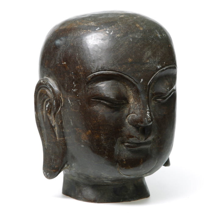 Stone Carved Buddha Head