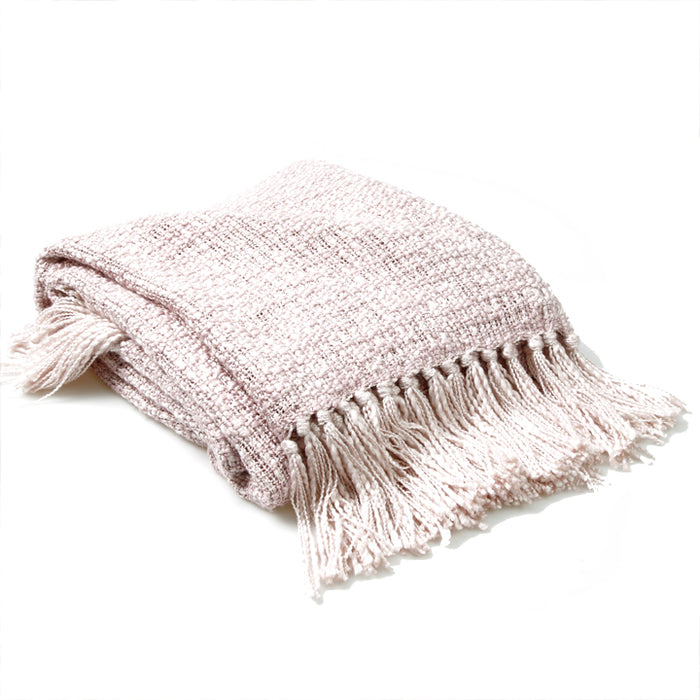 Linton Throw, Dusky Pink