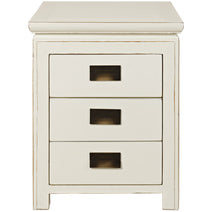 White Lacquer Bedside Chest