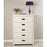 White Lacquer Five Drawer Chest