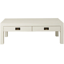 White Four Drawer Coffee Table