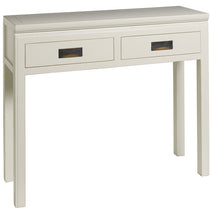 White Two Drawer Console