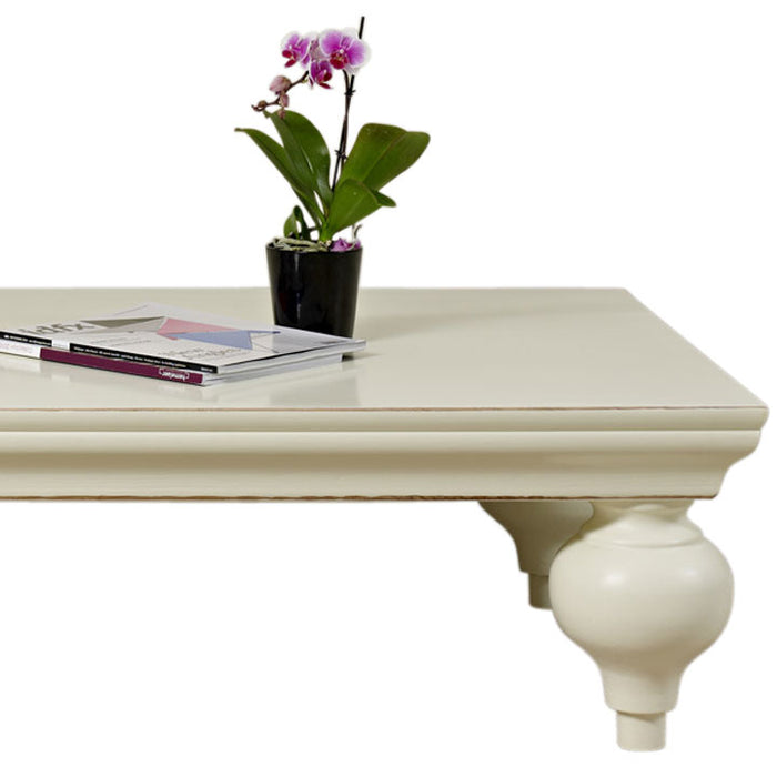 White Coffee Table with Ball Feet