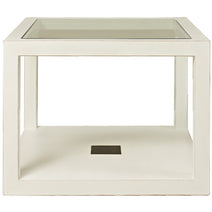 White Lacquer Square Table