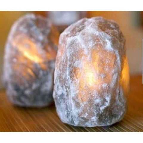 Rare Grey Himalayan Salt Lamp 2-3Kg On Marble Base - Why So Salty