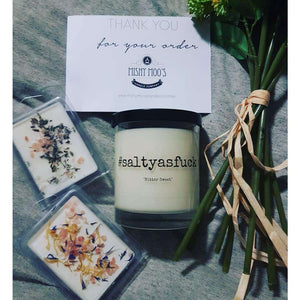 #saltyasfuck Natural Soy Salted Caramel Candle - Why So Salty
