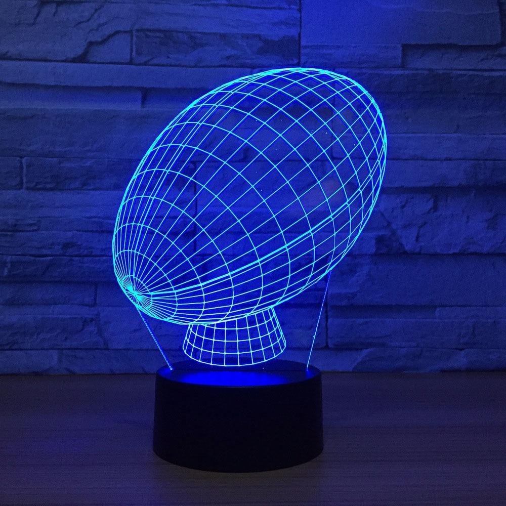 New Day Stock 3D Lamp American Football 3D Led Lamp