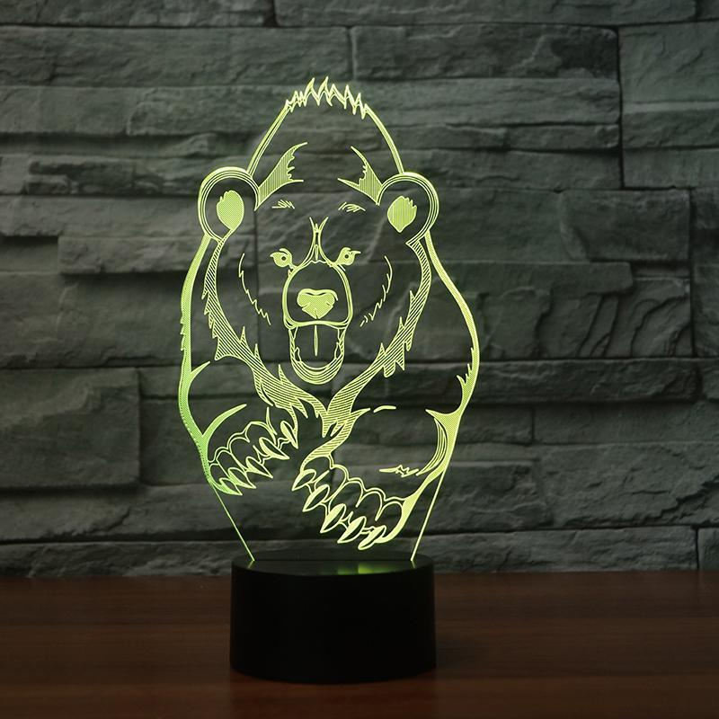 New Day Stock 3D Lamp Animal Bear Moulding 3D Led Lamp