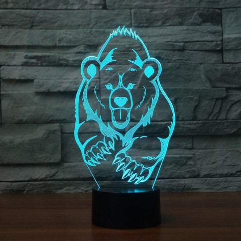 Image of New Day Stock 3D Lamp Animal Bear Moulding 3D Led Lamp