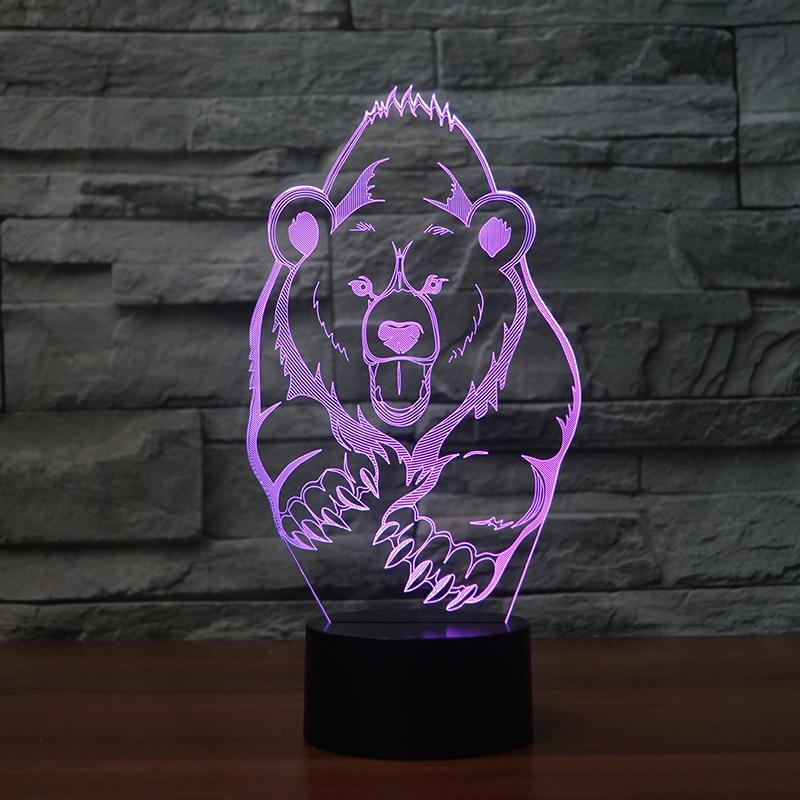 Animal Bear Moulding 3D Led Lamp