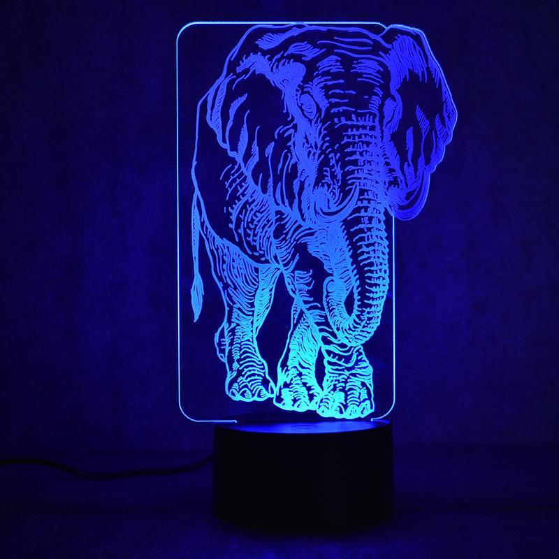 New Day Stock 3D Lamp Animal Elephant 3D Led Lamp