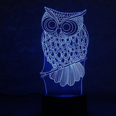 Image of New Day Stock 3D Lamp Animal Owl 3D Led Lamp