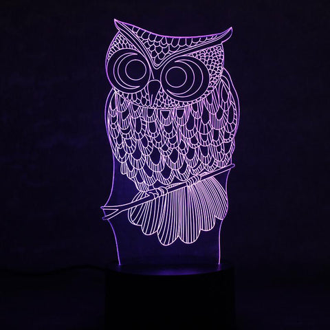 Image of Animal Owl 3D Led Lamp