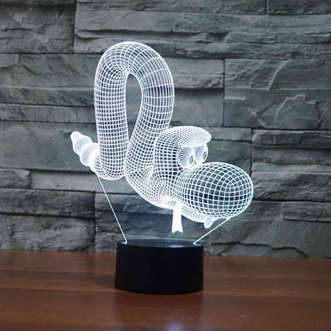 Image of New Day Stock 3D Lamp Animal Snake 3D Led Lamp