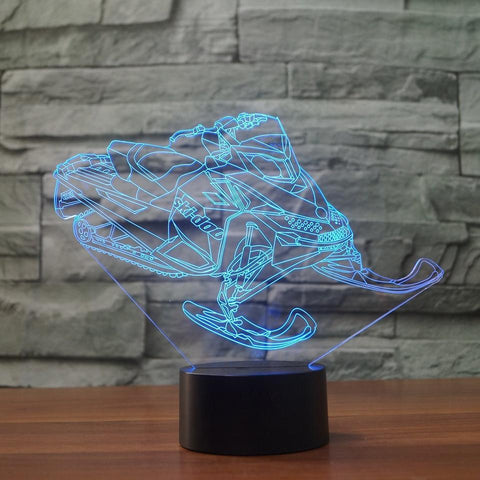 Image of New Day Stock 3D Lamp Atmosphere Snowmobile Car 3D Led Lamp