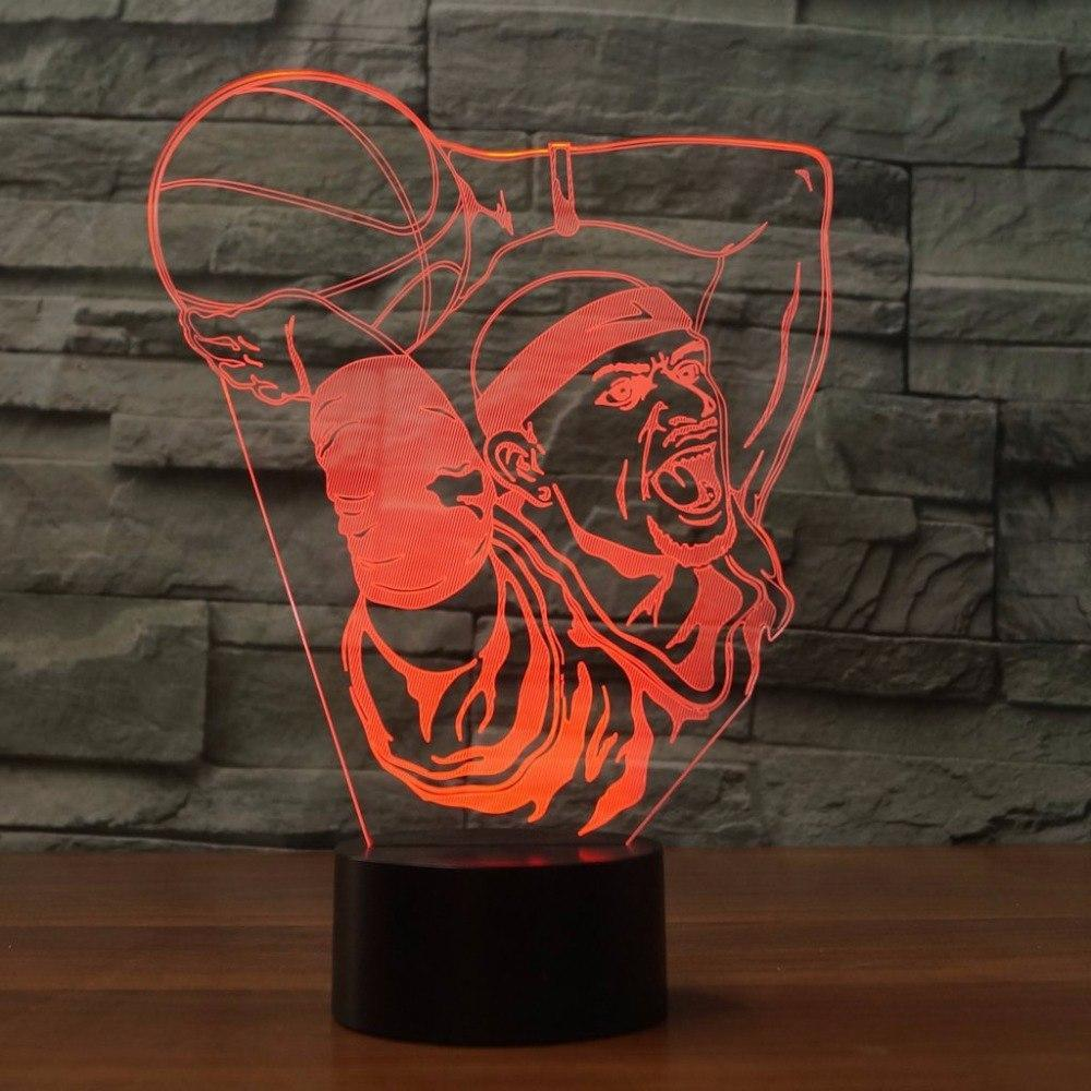 New Day Stock 3D Lamp Basketball Boy Dunk 3D Led Lamp