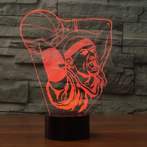 Image of New Day Stock 3D Lamp Basketball Boy Dunk 3D Led Lamp