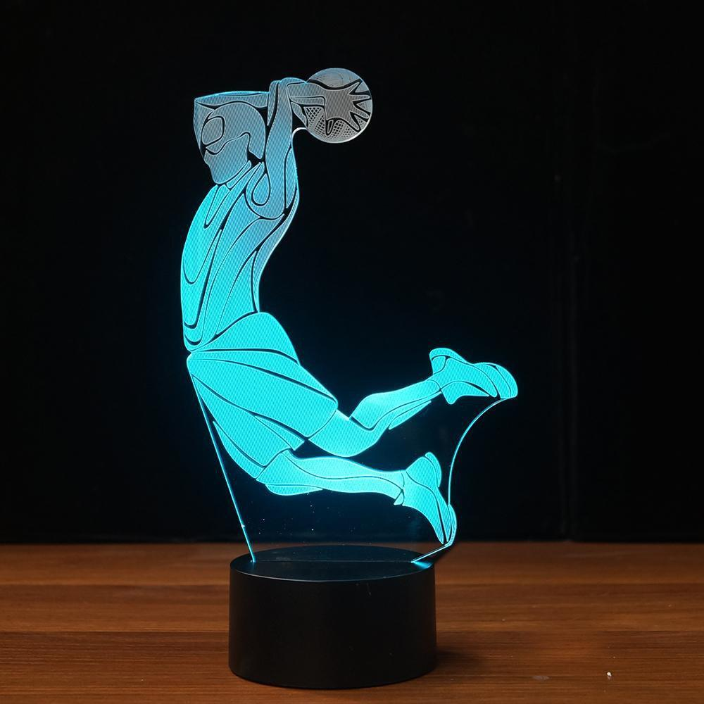 New Day Stock 3D Lamp Basketball Dunk 3D Led Lamp