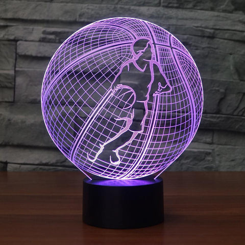 Image of New Day Stock 3D Lamp Basketball Modelling 3D Led Lamp