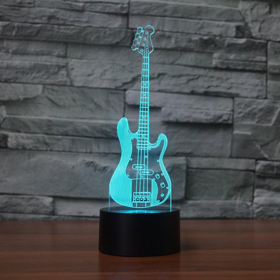 New Day Stock 3D Lamp Bass Guitar 3D Led Lamp
