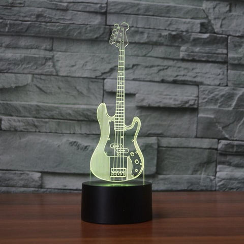 Image of New Day Stock 3D Lamp Bass Guitar 3D Led Lamp