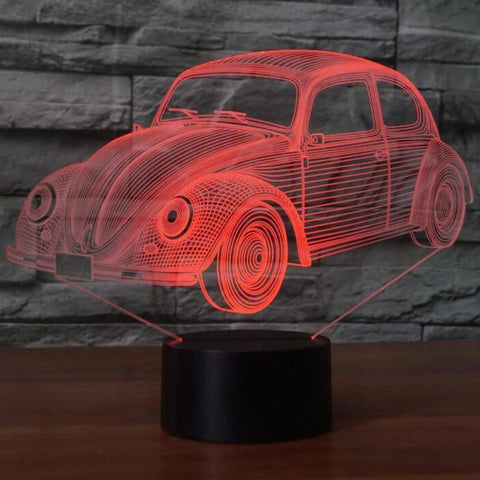 Image of New Day Stock 3D Lamp Beetle Car 3D Led Lamp