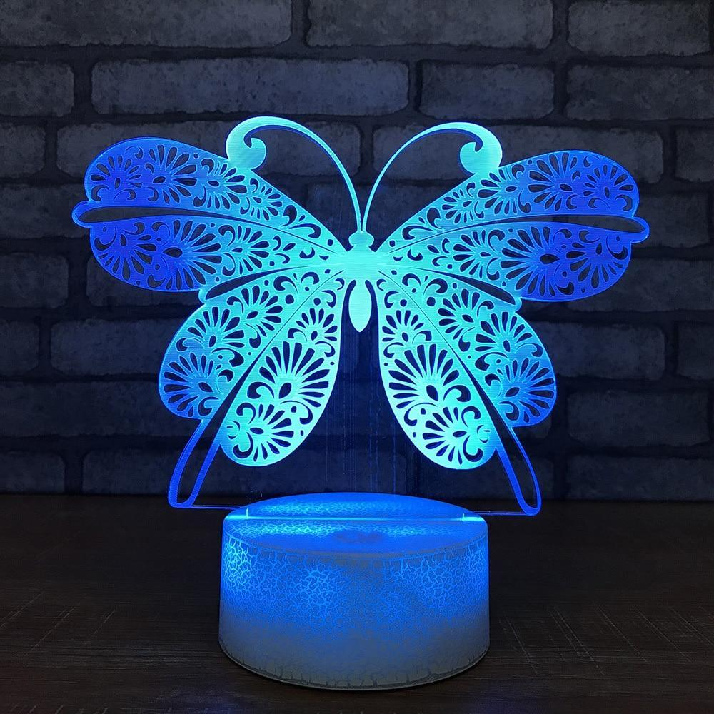 New Day Stock 3D Lamp Butterfly Modelling 3D Led Lamp