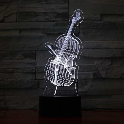 New Day Stock 3D Lamp Cello 3D Led Lamp