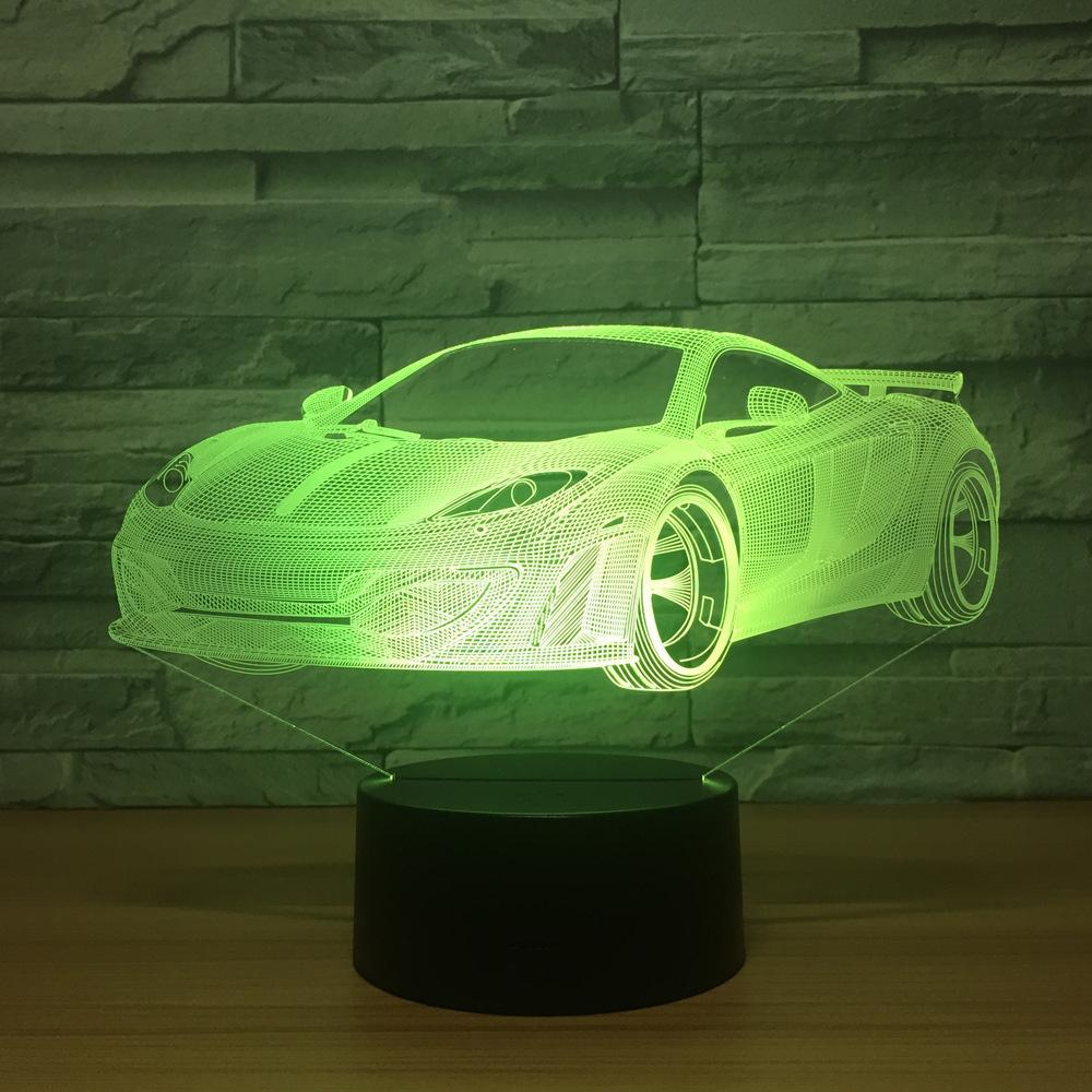 New Day Stock 3D Lamp Cool Car Acrylic 3D Led Lamp