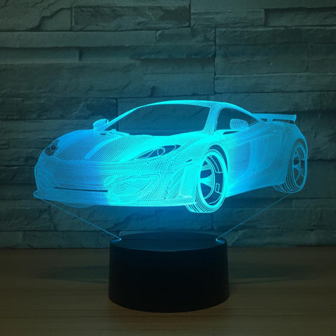 Cool Car Acrylic 3D Led Lamp