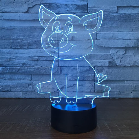 Image of New Day Stock 3D Lamp Cute Pig 3D Led Lamp