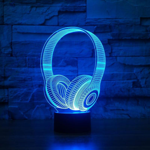 Image of New Day Stock 3D Lamp DJ Headphone 3D Led Lamp
