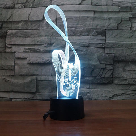 Image of New Day Stock 3D Lamp Fashion USB Art Music Notation 3D Led Lamp