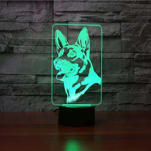 New Day Stock 3D Lamp German Shepherd 3D Led Lamp