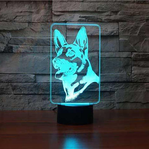 German Shepherd 3D Led Lamp