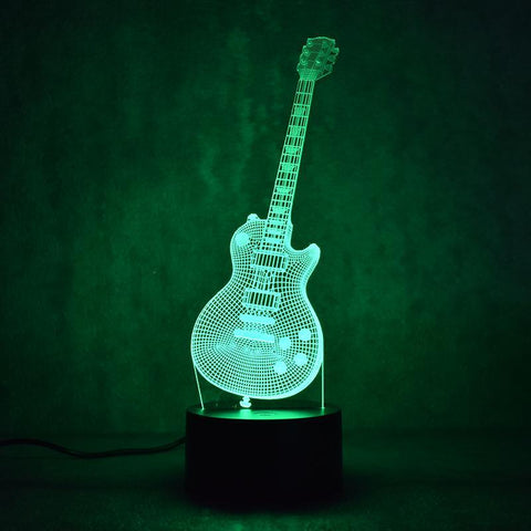 Image of New Day Stock 3D Lamp Guitar Music 3D Led Lamp