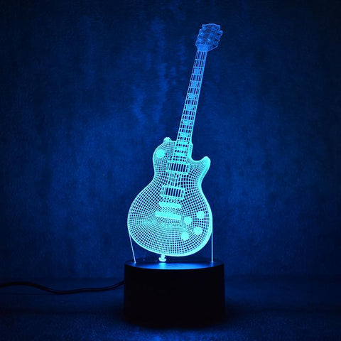 New Day Stock 3D Lamp Guitar Music 3D Led Lamp