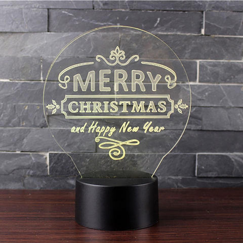 New Day Stock 3D Lamp Happy New Year 3D Led Lamp