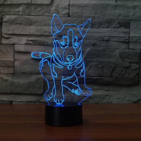 New Day Stock 3D Lamp Husky 3D Led Lamp