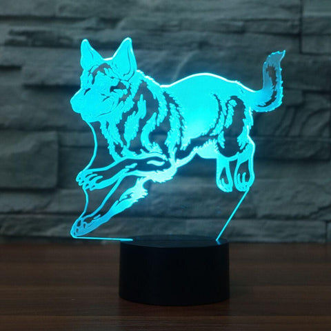 New Day Stock 3D Lamp Husky Dog 3D Led Lamp