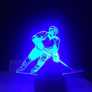 New Day Stock 3D Lamp Ice Hockey Player 3D Led Lamp