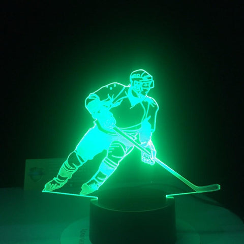 Image of New Day Stock 3D Lamp Ice Hockey Player 3D Led Lamp