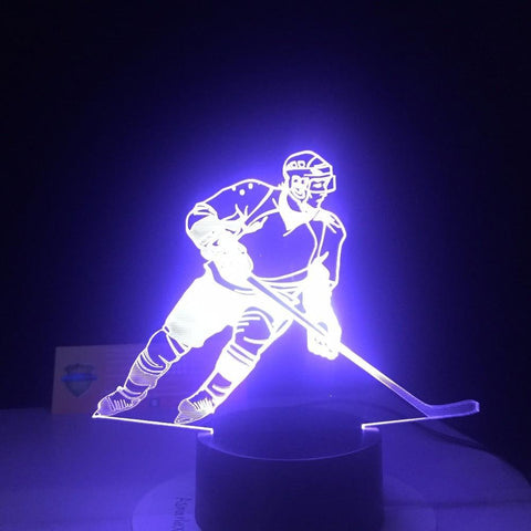 Ice Hockey Player 3D Led Lamp