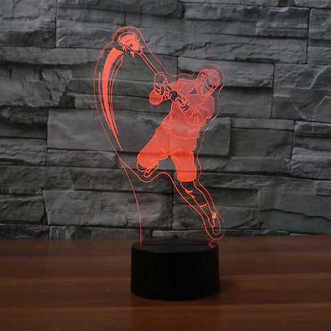 Lacrosse Player Table 3D Led Lamp