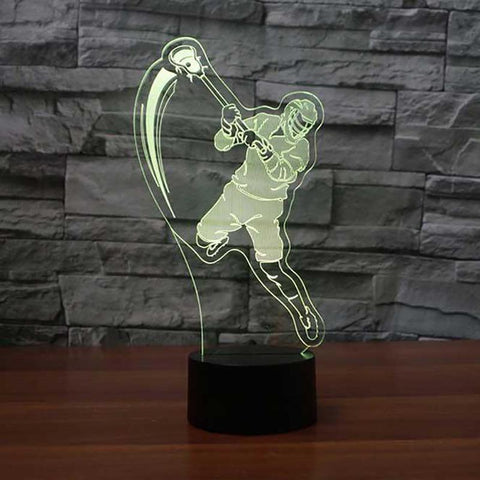 New Day Stock 3D Lamp Lacrosse Player Table 3D Led Lamp