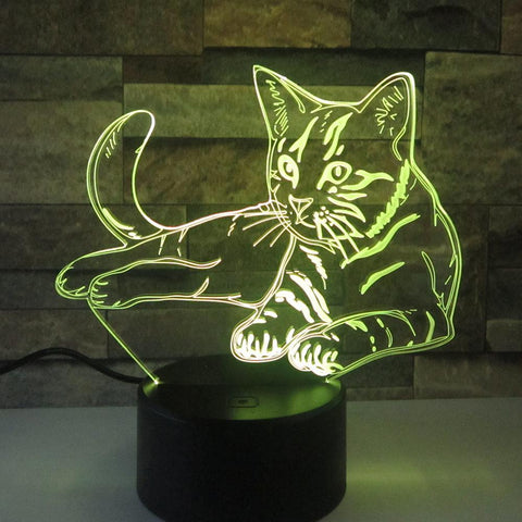 Image of New Day Stock 3D Lamp Lovely Cat 3D Led Lamp