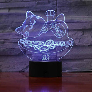 New Day Stock 3D Lamp Plutus Cat 3D Led Lamp