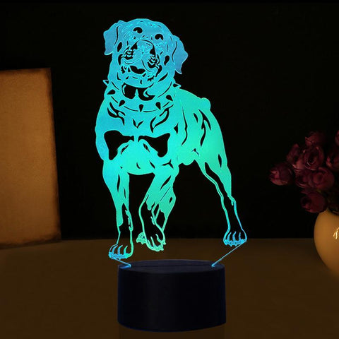 New Day Stock 3D Lamp Rottweiler Dog 3D Led Lamp
